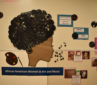 black history month wall display
