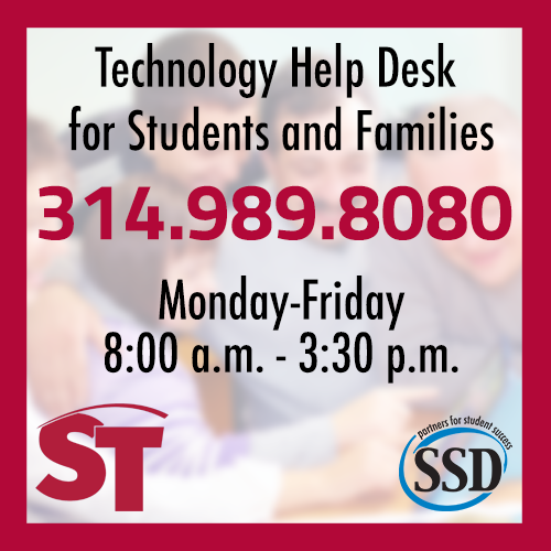 Technology Help Desk for Families and Students : 314.989.8080