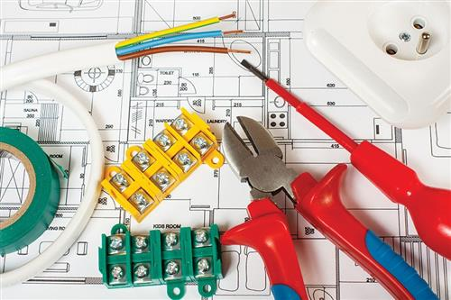 Blue print, wires and other electrical tools