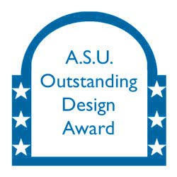 award with ASU outstanding design award written on it