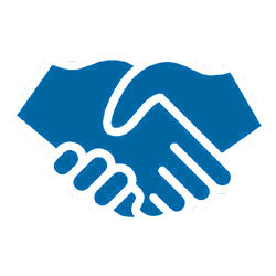 graphic of shaking hands